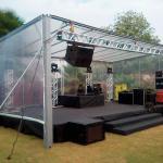 Locação de palco praticável