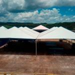 Locação de tendas piramidal